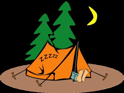 Repczyce: Pole namiotowe nad zalewem